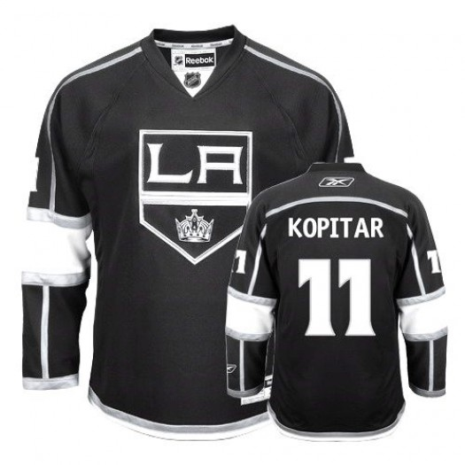 Anze Kopitar Los Angeles Kings Men's Reebok Authentic Black Home Jersey