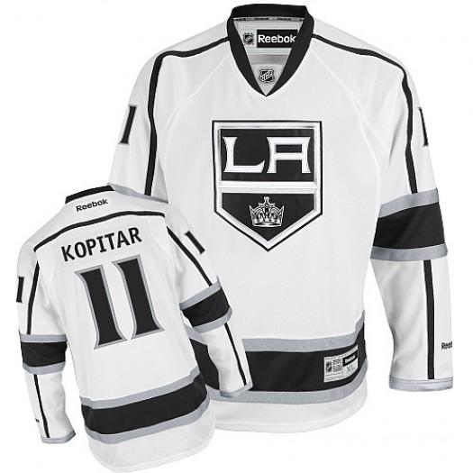 Anze Kopitar Los Angeles Kings Men's Reebok Authentic White Away Jersey