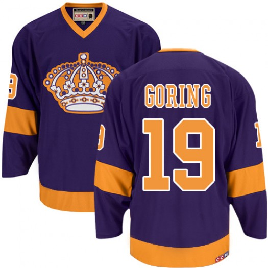 Butch Goring Los Angeles Kings Men's CCM Premier Purple Throwback Jersey