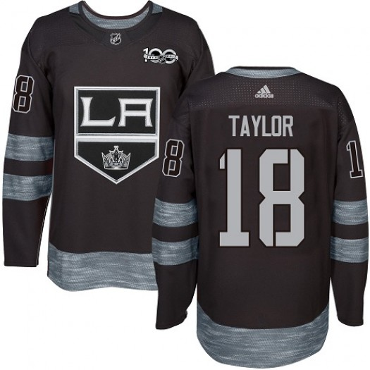 Dave Taylor Los Angeles Kings Men's Adidas Premier Black 1917-2017 100th Anniversary Jersey