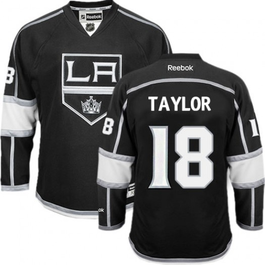 Dave Taylor Los Angeles Kings Men's Reebok Authentic Black Home Jersey