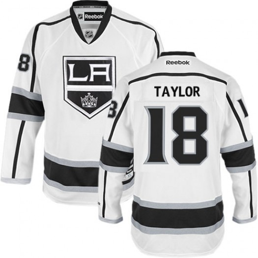 Dave Taylor Los Angeles Kings Men's Reebok Authentic White Away Jersey