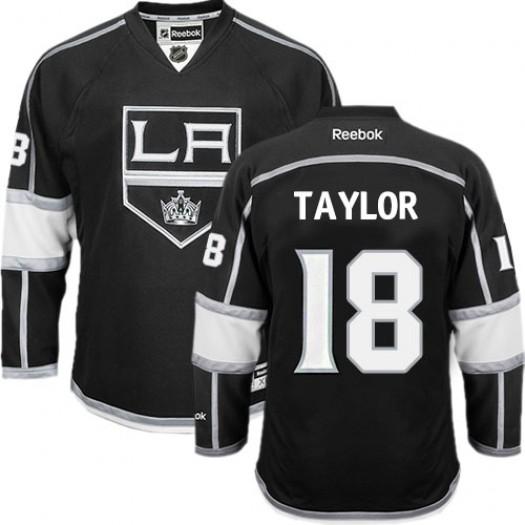 Dave Taylor Los Angeles Kings Men's Reebok Premier Black Home Jersey