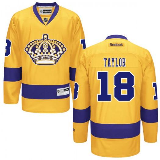Dave Taylor Los Angeles Kings Men's Reebok Premier Gold Alternate Jersey