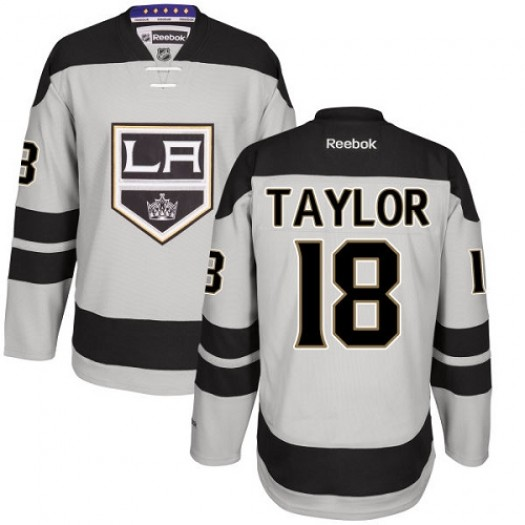 Dave Taylor Los Angeles Kings Men's Reebok Premier Gray Alternate Jersey