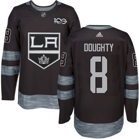 Drew Doughty Los Angeles Kings Men's Adidas Authentic Black 1917-2017 100th Anniversary Jersey