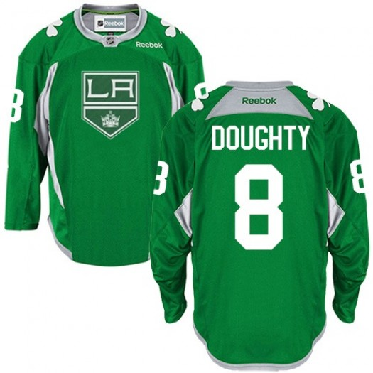 Drew Doughty Los Angeles Kings Men's Reebok Authentic Green Practice Jersey