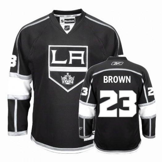 Dustin Brown Los Angeles Kings Men's Reebok Authentic Black Home Jersey