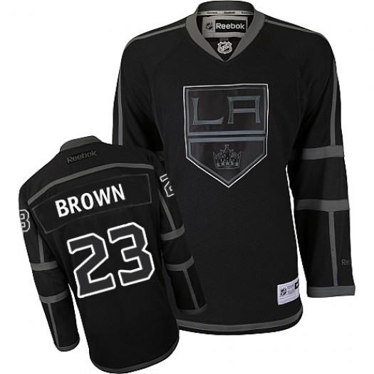 Dustin Brown Los Angeles Kings Men's Reebok Authentic Black Ice Jersey
