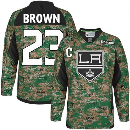 Dustin Brown Los Angeles Kings Men's Reebok Authentic Brown Camo Veterans Day Practice Jersey
