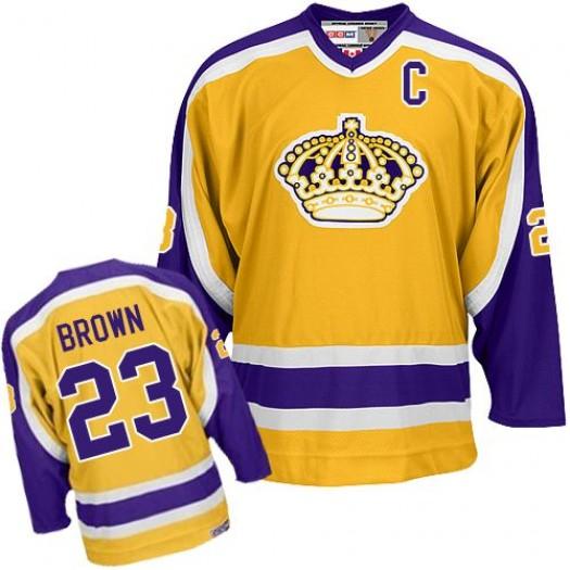 Dustin Brown Los Angeles Kings Men's Reebok Authentic Gold Jersey