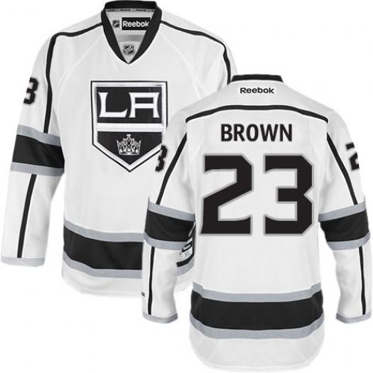 Dustin Brown Los Angeles Kings Men's Reebok Authentic White Away Jersey