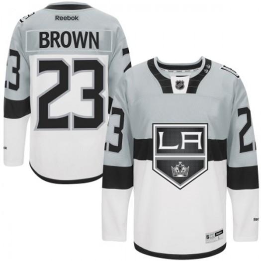 Dustin Brown Los Angeles Kings Men's Reebok Authentic White /Grey 2015 Stadium Series Jersey