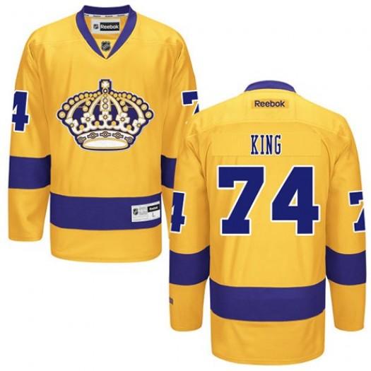 Dwight King Los Angeles Kings Men's Reebok Authentic Gold Alternate Jersey