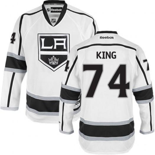 Dwight King Los Angeles Kings Men's Reebok Authentic White Away Jersey