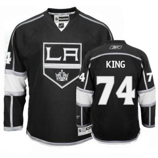 Dwight King Los Angeles Kings Men's Reebok Premier Black Home Jersey
