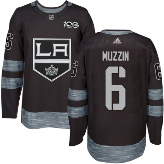 Jake Muzzin Los Angeles Kings Men's Adidas Authentic Black 1917-2017 100th Anniversary Jersey