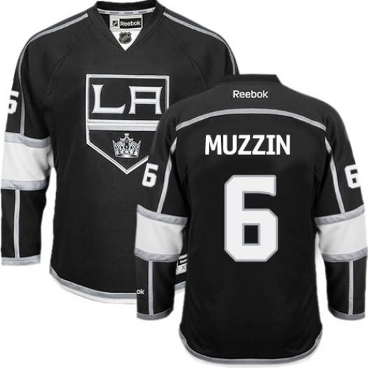Jake Muzzin Los Angeles Kings Men's Reebok Authentic Black Home Jersey