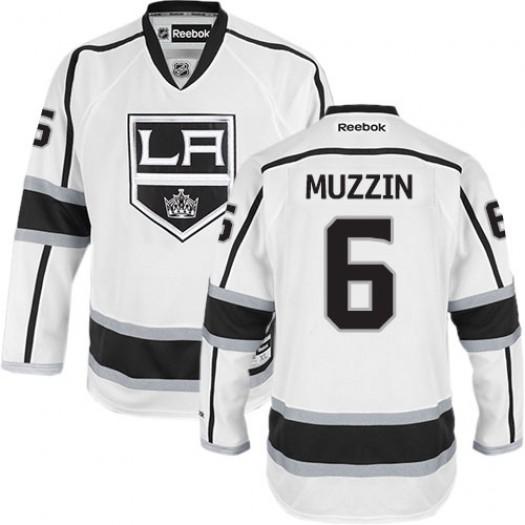 Jake Muzzin Los Angeles Kings Men's Reebok Authentic White Away Jersey