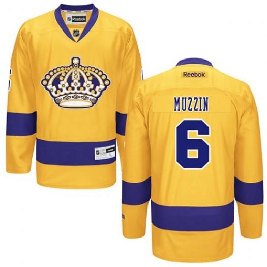 Jake Muzzin Los Angeles Kings Men's Reebok Premier Gold Alternate Jersey