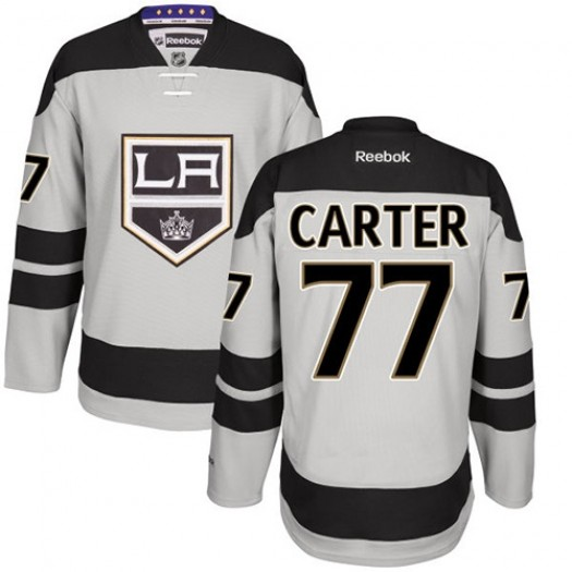 Jeff Carter Los Angeles Kings Men's Reebok Authentic Gray Alternate Jersey