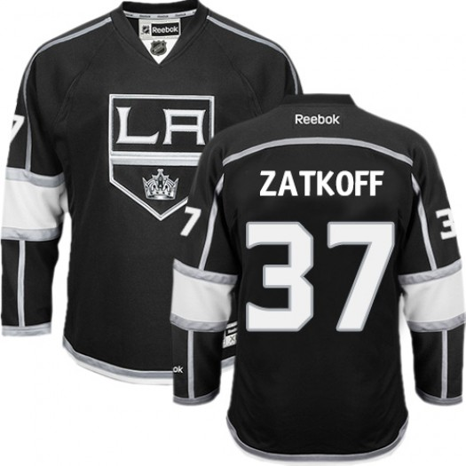 Jeff Zatkoff Los Angeles Kings Men's Reebok Premier Black Home Jersey