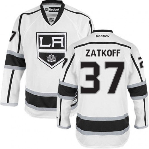 Jeff Zatkoff Los Angeles Kings Men's Reebok Premier White Away Jersey
