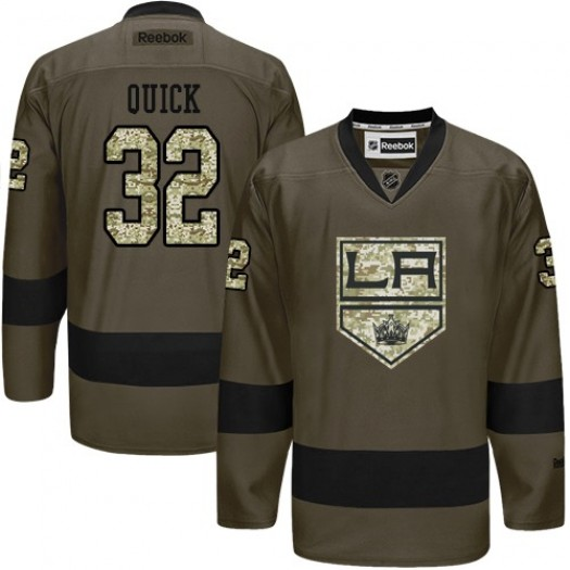 Jonathan Quick Los Angeles Kings Men's Reebok Authentic Green Salute to Service Jersey