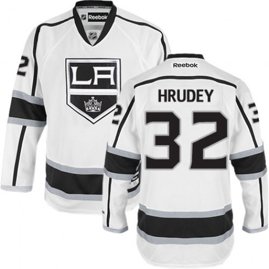 Kelly Hrudey Los Angeles Kings Men's Reebok Authentic White Away Jersey