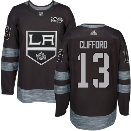 Kyle Clifford Los Angeles Kings Men's Adidas Premier Black 1917-2017 100th Anniversary Jersey