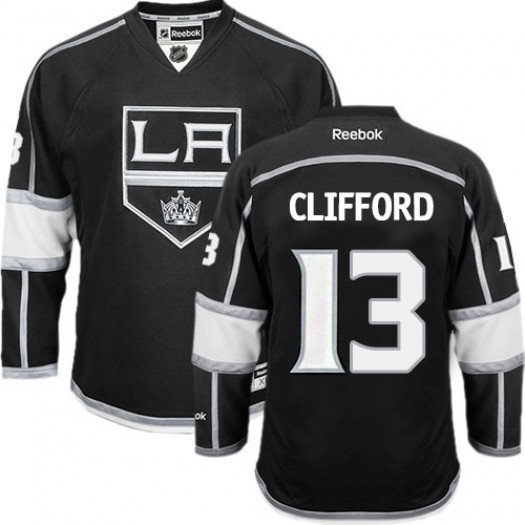 Kyle Clifford Los Angeles Kings Men's Reebok Authentic Black Home Jersey