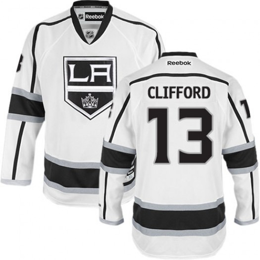 Kyle Clifford Los Angeles Kings Men's Reebok Authentic White Away Jersey