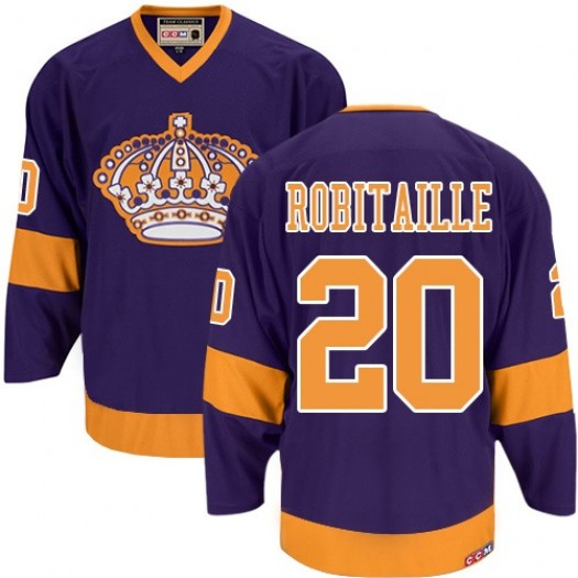Luc Robitaille Los Angeles Kings Men's CCM Authentic Purple Throwback Jersey
