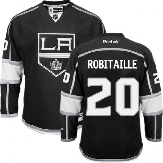 Luc Robitaille Los Angeles Kings Men's Reebok Authentic Black Home Jersey