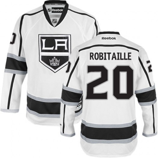 Luc Robitaille Los Angeles Kings Men's Reebok Authentic White Away Jersey