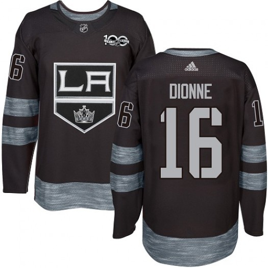 Marcel Dionne Los Angeles Kings Men's Adidas Premier Black 1917-2017 100th Anniversary Jersey
