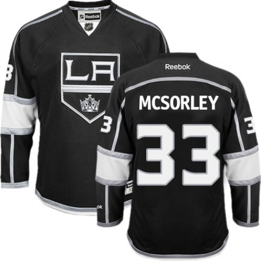 Marty Mcsorley Los Angeles Kings Men's Reebok Authentic Black Home Jersey