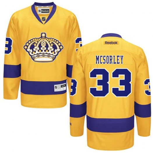 Marty Mcsorley Los Angeles Kings Men's Reebok Authentic Gold Alternate Jersey