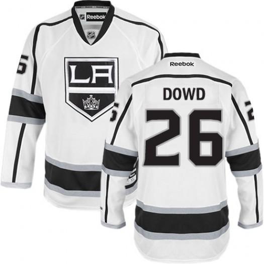 Nic Dowd Los Angeles Kings Men's Reebok Authentic White Away Jersey