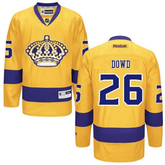 Nic Dowd Los Angeles Kings Men's Reebok Premier Gold Alternate Jersey