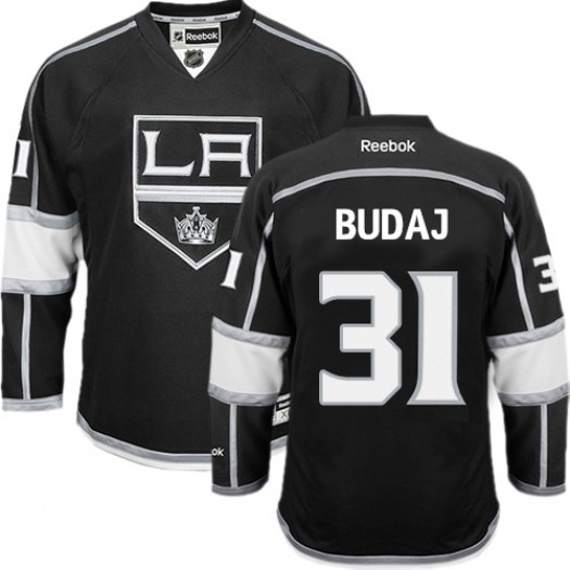 Peter Budaj Los Angeles Kings Men's Reebok Authentic Black Home Jersey