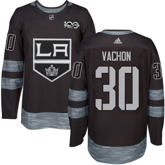 Rogie Vachon Los Angeles Kings Men's Adidas Authentic Black 1917-2017 100th Anniversary Jersey