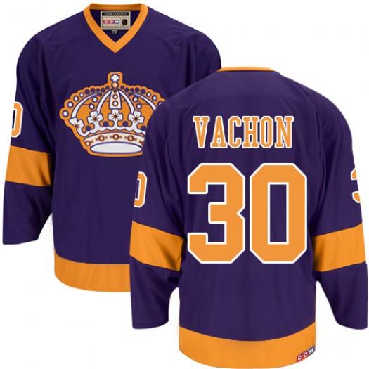 Rogie Vachon Los Angeles Kings Men's CCM Authentic Purple Throwback Jersey