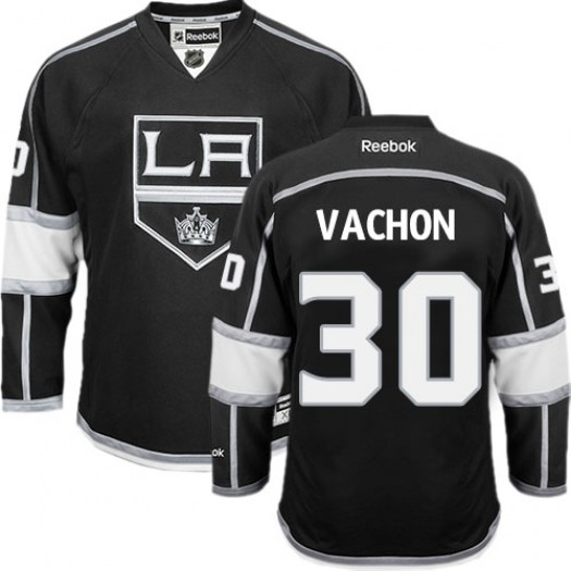 Rogie Vachon Los Angeles Kings Men's Reebok Authentic Black Home Jersey