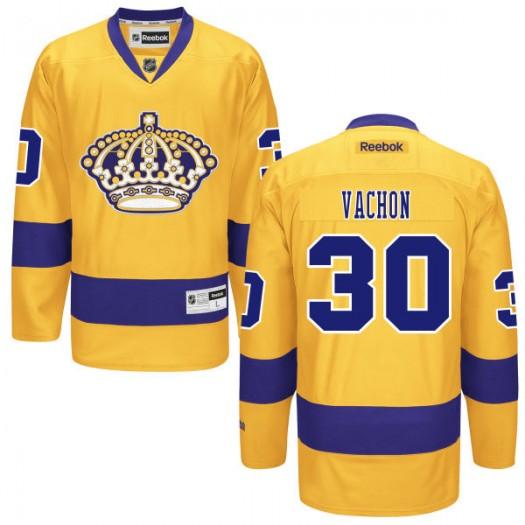 Rogie Vachon Los Angeles Kings Men's Reebok Authentic Gold Alternate Jersey
