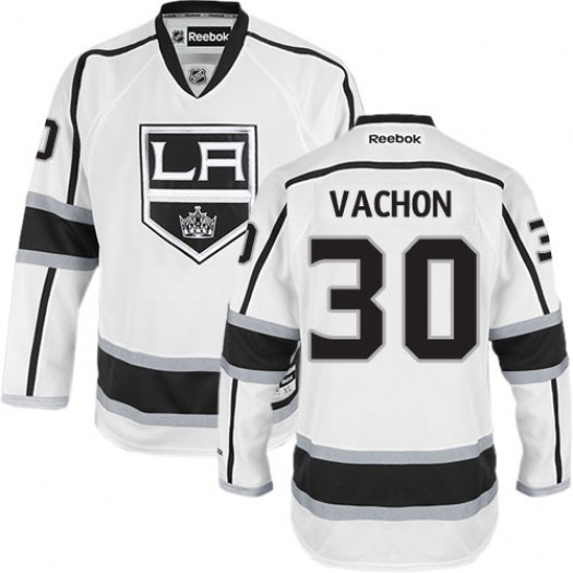 Rogie Vachon Los Angeles Kings Men's Reebok Authentic White Away Jersey