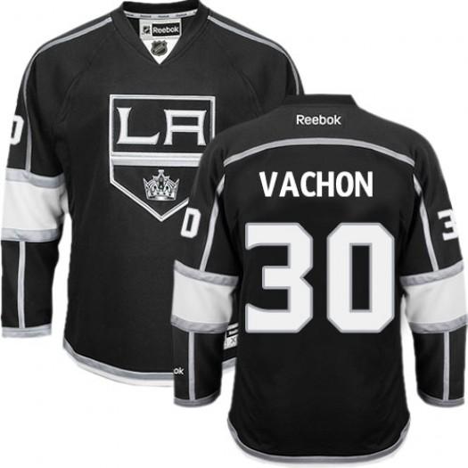 Rogie Vachon Los Angeles Kings Men's Reebok Premier Black Home Jersey