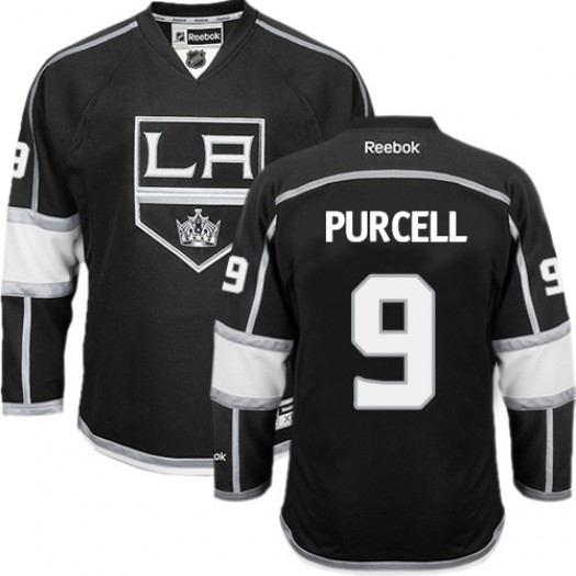 Teddy Purcell Los Angeles Kings Men's Reebok Authentic Black Home Jersey