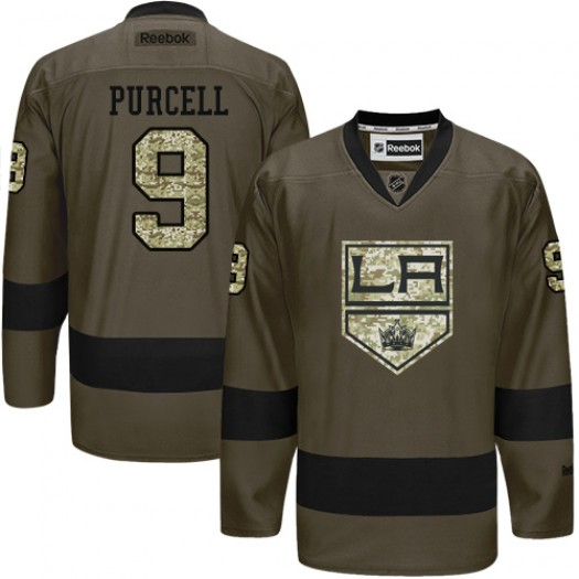 Teddy Purcell Los Angeles Kings Men's Reebok Authentic Green Salute to Service Jersey