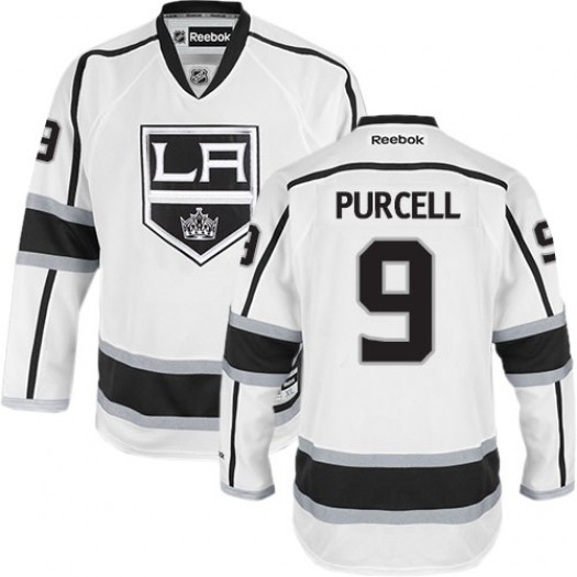 Teddy Purcell Los Angeles Kings Men's Reebok Authentic White Away Jersey